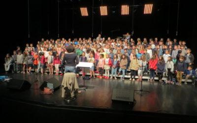 Répétition générale avant le concert de Choeur d'écoles pour les CM