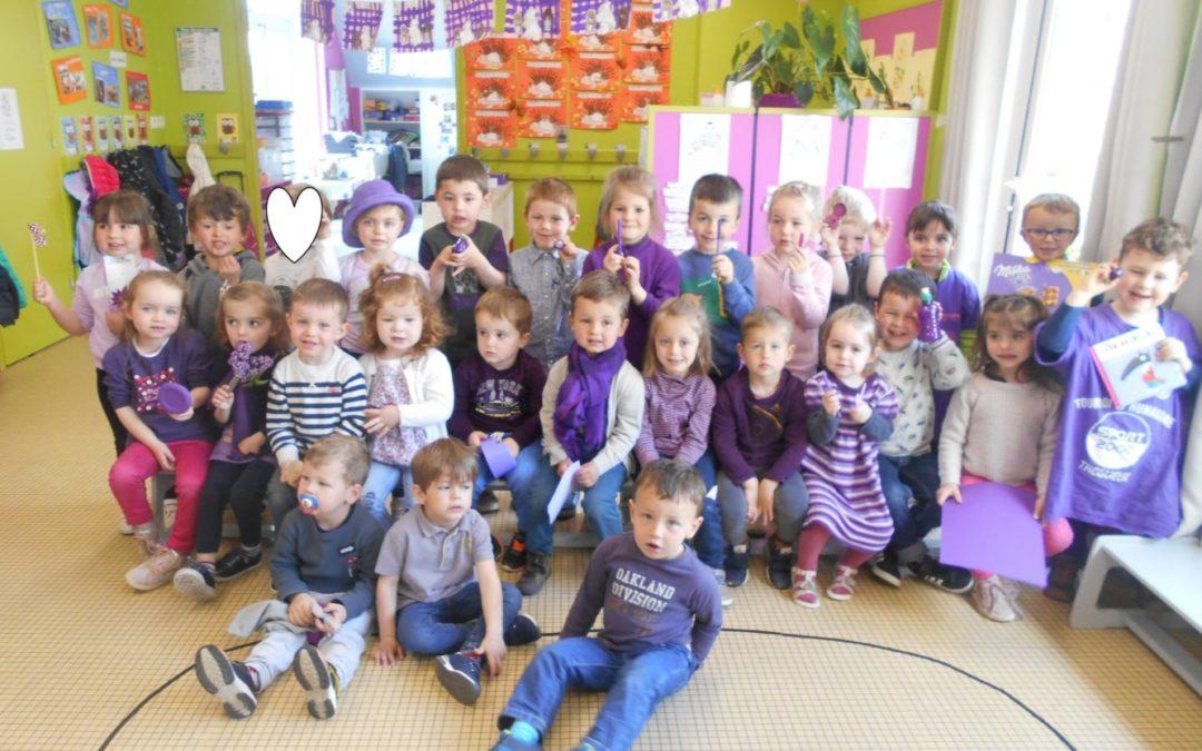 Journée violette en maternelle